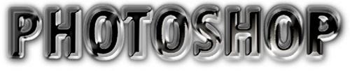 Хромированные буквы в фотошоп