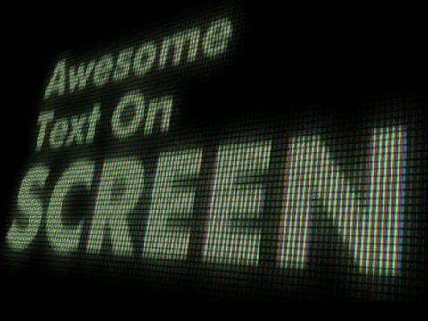 Эффект экранного текста
