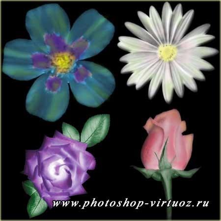 """Кисти """"Цветы"""""""