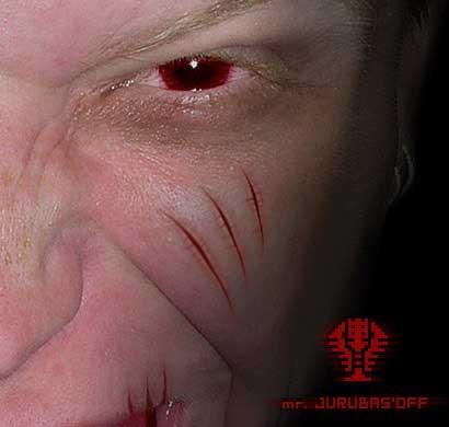 Реалистичные шрамы в фотошоп