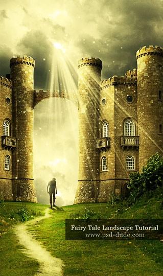 Сказочный пейзаж в фотошоп