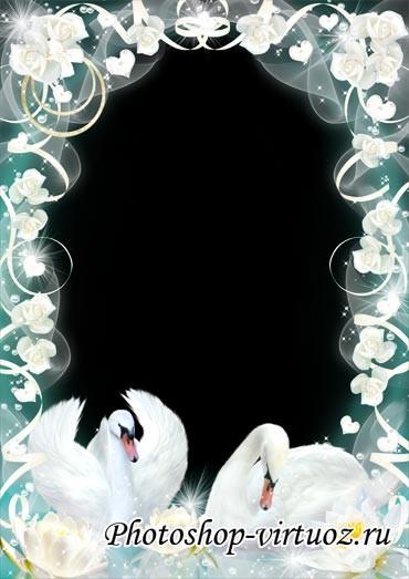 """Рамка """"Белые лебеди"""""""