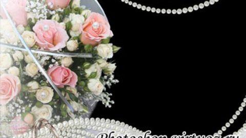 Рамка «Розы и жемчуг»