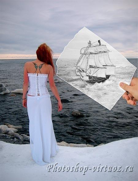 Фотография и рисунок