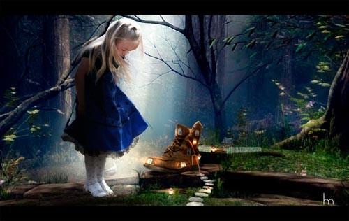 """Коллаж """"Алиса в стране чудес"""""""