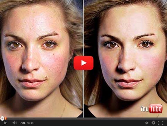 Как в фотошоп сделать идеальную кожу